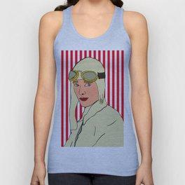Amelia Earhart Unisex Tank Top