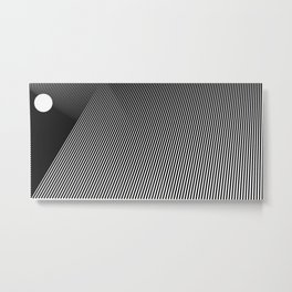 Abstraction 020 - Minimal Geometric Triangle Metal Print