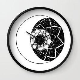 Crescent Moon Mandala Wall Clock