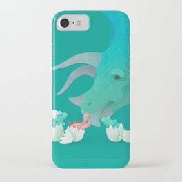 Triceratops Hugs by Ballsy Creative iPhone Case