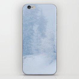 Frozen trees iPhone Skin