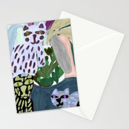 Jungle Cats, Original Artwork by Nina Sencar Stationery Cards