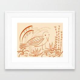 the well loved garden Framed Art Print