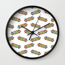 Skate pattern I Wall Clock