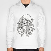art nouveau Hoodies featuring Art Nouveau by Sweeney Boo