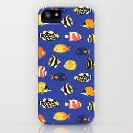 Exotic School Of Reef Fish iPhone Case