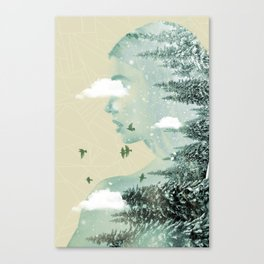 Drifting on a cloud Canvas Print