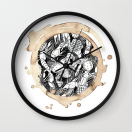 Coffee Stained Crawfish Boil-Louisiana Series Wall Clock