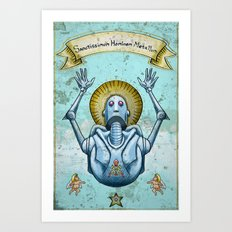 Most Holy Robot Art Print