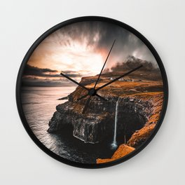 gasadalur at faroe Wall Clock