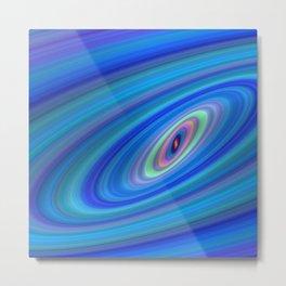 Blue Space Metal Print