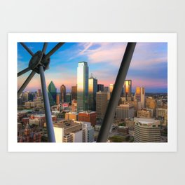 Dallas Skyline From The Reunion Tower Art Print