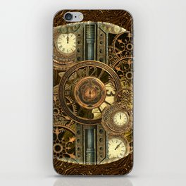 Steampunk, awesome clocks iPhone Skin