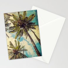 Vintage Blue Hawaii Palm Trees Stationery Cards