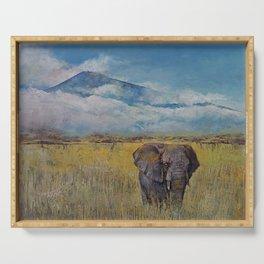 Elephant Savanna Serving Tray