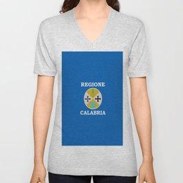 Flag of calabria Unisex V-Neck