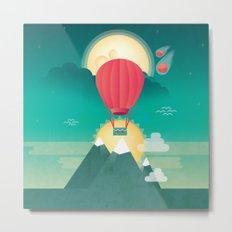 Sun, Moon & Balloon Metal Print