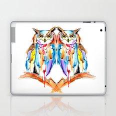 watercolor owl Laptop & iPad Skin