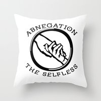 divergent Throw Pillows featuring Divergent - Abnegation The Selfless by Lunil