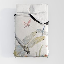 Good Night Surreal Dragonfly Artwork Comforters