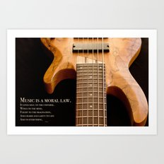 Music is a Moral Law Art Print