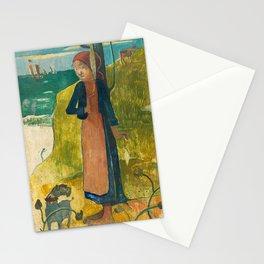 Paul Gauguin - Breton Girl Spinning Stationery Cards