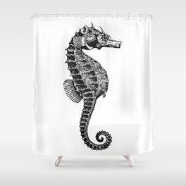 Vintage Sea Horse Shower Curtain