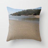monkey island Throw Pillows featuring Walking Towards Monkey Island Palolem by Serenity Photography
