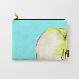 Apple on Aquamarine Carry-All Pouch