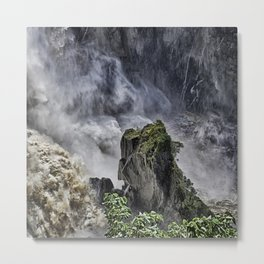 Chaotic water view Metal Print
