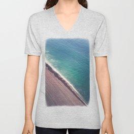Beach Aerial II Unisex V-Neck