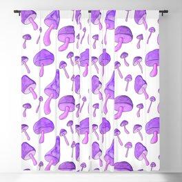 Purple Mushroom Blackout Curtain