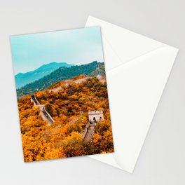 The Great Wall of China in Autumn (Color) Stationery Cards