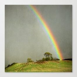 Lincolnshire Wolds Rainbow Canvas Print