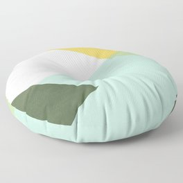 Geometrics - citrus & concrete Floor Pillow