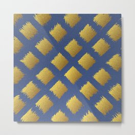 Blue and Gold Trendy Design #society6 #decor #buyart #artprint Metal Print