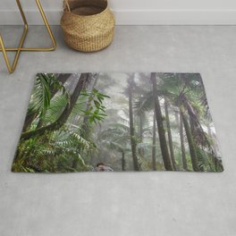 The Cloud forest - before Maria - El Yunque rainforest PR Rug