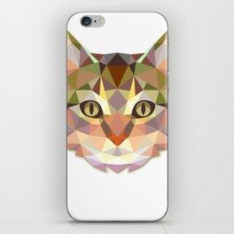 Geometric Cat Face iPhone Skin