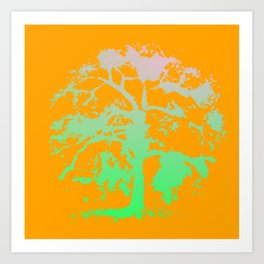 Psychedelic Willow Art Print
