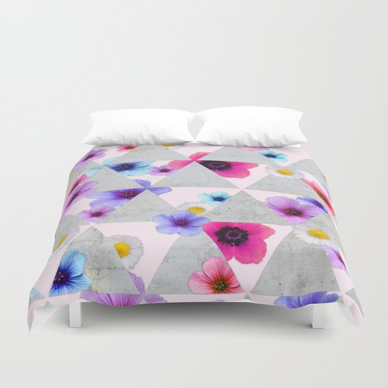 Playing with Flowers Duvet Cover