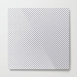 Lilac Gray Polka Dots Metal Print