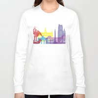 brussels Long Sleeve T-shirts featuring Brussels skyline pop by Paulrommer