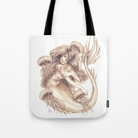 jellyfish Tote Bags featuring Jellyfish by Bea González