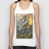 the legend of korra Tank Tops featuring The Legend Of Korra by Fran Agostinelli