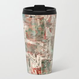 Misty pop: Abstract Acrylic Painting with peachy soft colors Travel Mug