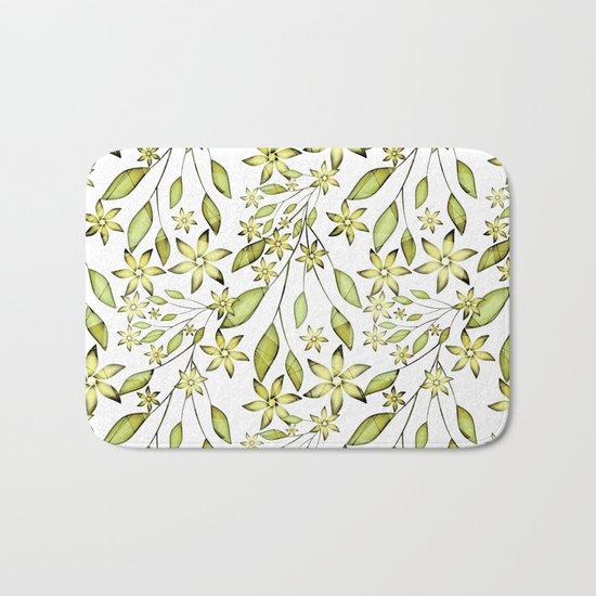 delicate floral pattern. Bath Mat