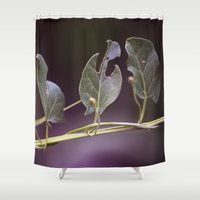 eat Shower Curtains featuring Eat by CrookedHeart