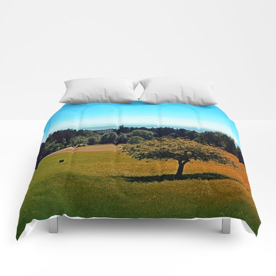 Another lonely tree in summer Comforters