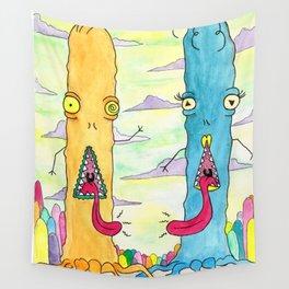 Alien Couple Wall Tapestry