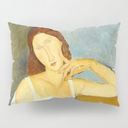 "Amedeo Modigliani ""Jeanne Hebuterne"" Pillow Sham"